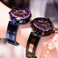 Dimini Mode Luxus Damen Kristall Uhr Wasserdicht Rose Gold Stahl Quarz Frauen Uhren Top Marke Uhr Relogio Feminino Saat