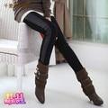 2013 осень одежды для беременных, мода осень и зима брюки живот брюки брюки кожаные штаны плюс бархат утолщение