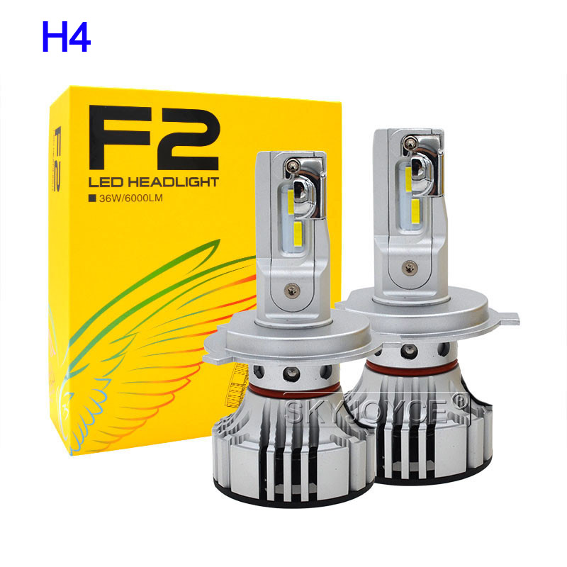 1 Set Car LED Headlight Kit F2 H4 H7 H1 H11 HB3 9005 HB4 9006 LED Bulb 72W 12000LM CSP Chips Turbo Fan 6500K Auto Headlamp Bulbs (20)