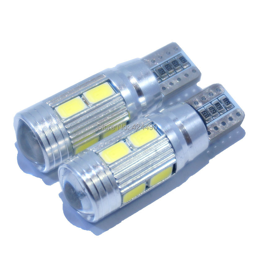2pcs X led t10 canbus t10 led SIGNAL BULB SMD5630 LENS FREE ERROR Auto Indicator 168 501 LED BULB lamp W5W canbus light high t10 canbus 10pcs t10 w5w 194 168 5630 10 smd can bus error free 10 led interior led lights white 6000k canbus 300lm