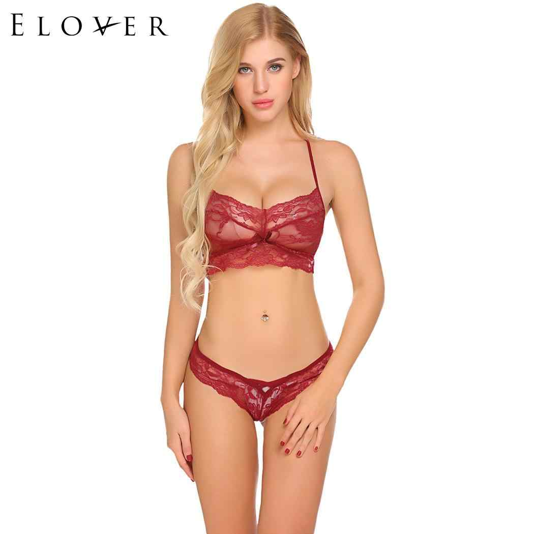 c8db885cef Detail Feedback Questions about Elover Women s Erotic Costumes Sexy  Lingerie Sets Thong Panty Bralette Lace and Women Sexy Set Bikini set for  Women on ...