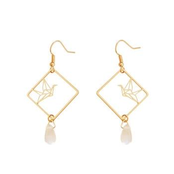 Original design fashion girl temperament feeling drop earrings earrings hollow out art wholesale fashion popular earrings 1