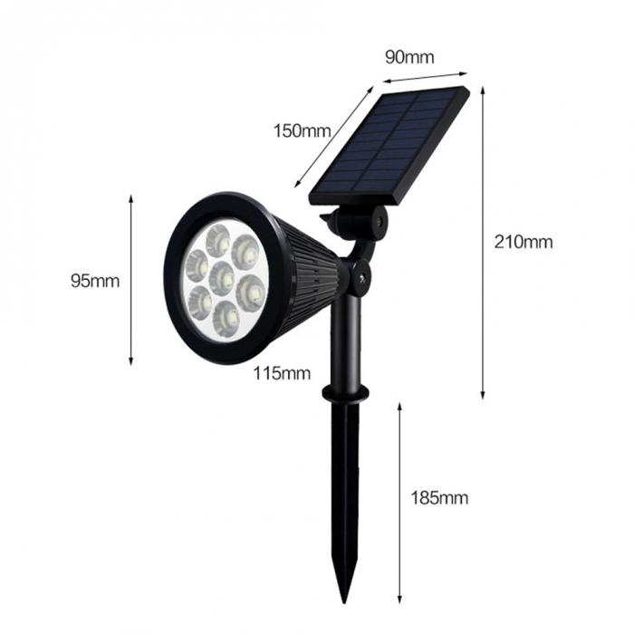 lâmpada projetor ponto ajustável para jardim ao