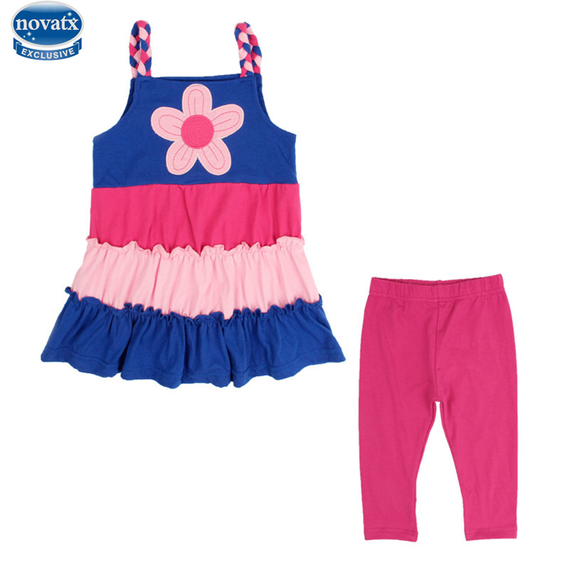 nova kids child summer clothes sets embroidery animal clothing sets kids girls short sleeve nova kids retail baby clothing suits