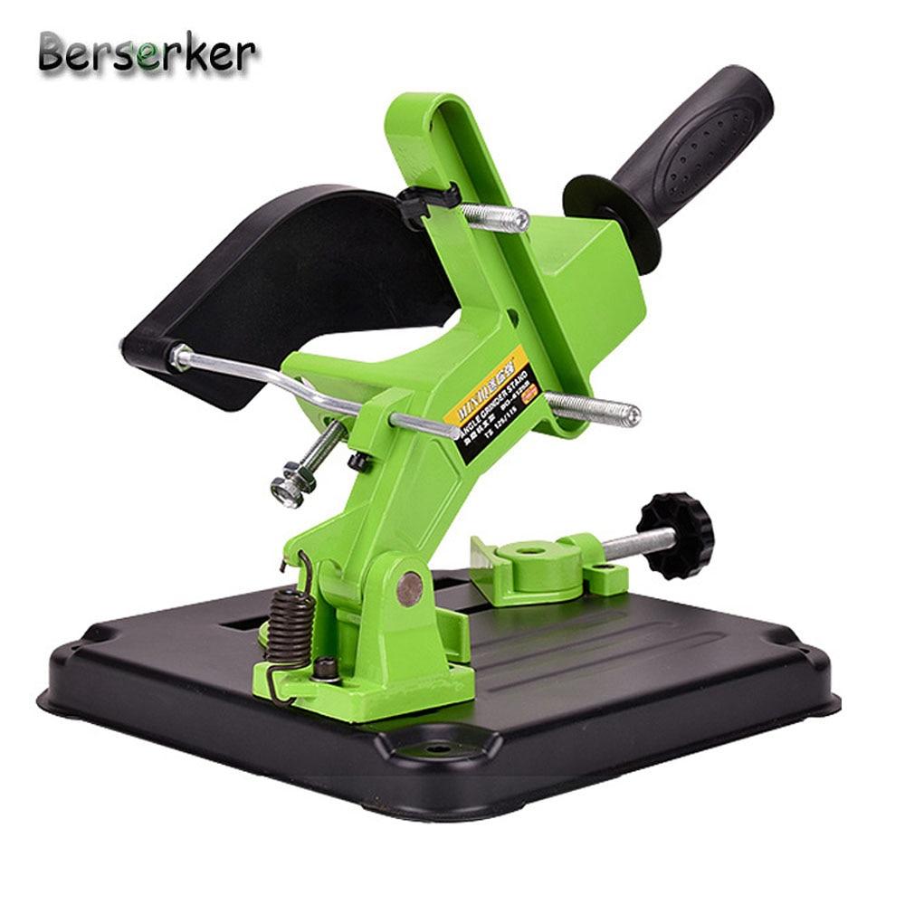 Berserker Angle Grinder Stand Aluminum bracket iron base Angle Grinder Holder support for 100 115mm angle grinder cutting aluminum angle grinder bracket holder