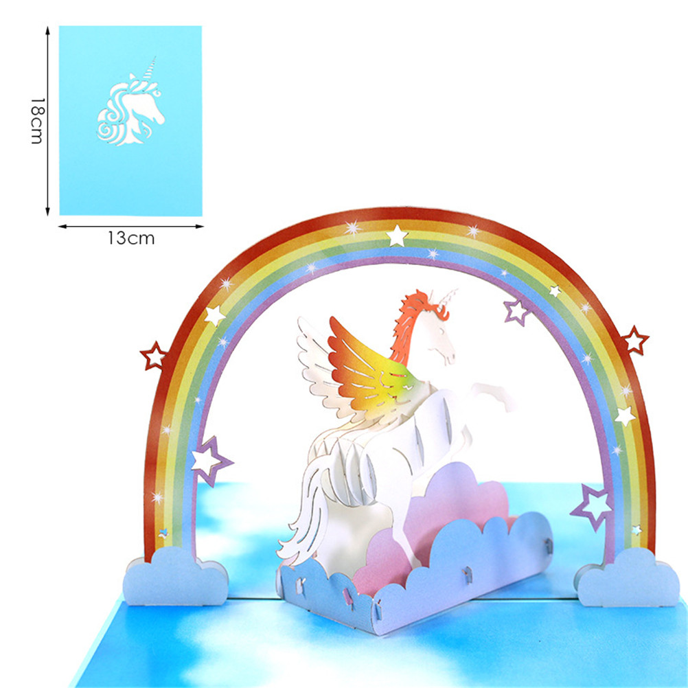 Online Shop 1pcs 3D Unicorn Pop Up Greeting Cards Invitation Laser Cut Post Card Birthday Christmas Valentine' Day Party Wedding Decoration | Aliexpress Mobile
