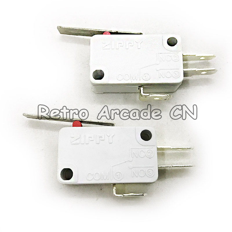 Free shipping Wholesale 100pcs lot High quality Zippy 3Pin microswitch for arcade push button with NO