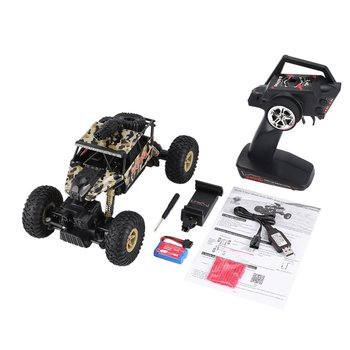 1/18 2.4GHz 4WD RC Missile Car with 0.3MP Wifi FPV Camera Off-road Crawler Real-time for Kids Toy Gift RC Racing Climber Model