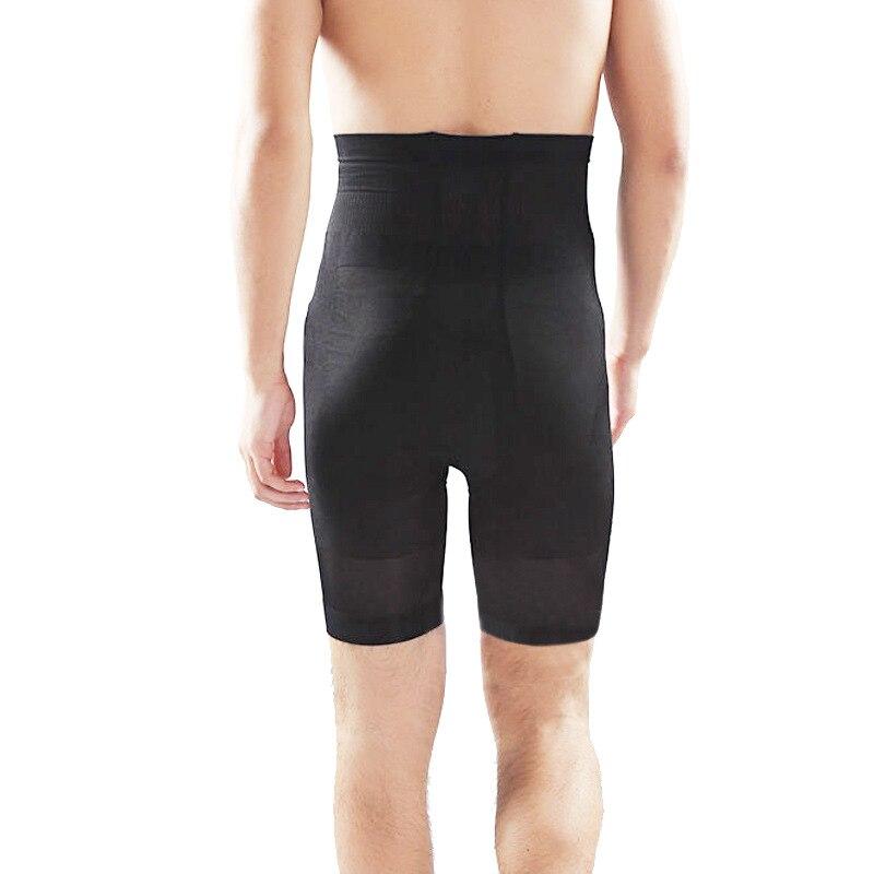 2016 Mode Mannen Functionele Afslanken Shapewear Body Beeldhouwen Bodysuit Mannelijke Taille Cincher Ademend Broek Zwart