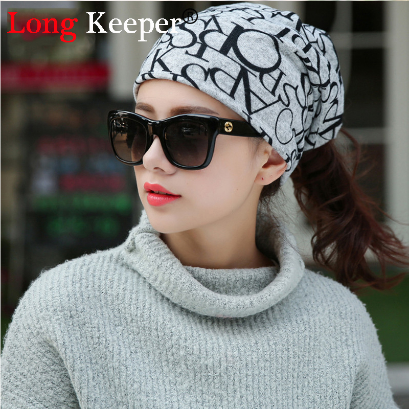 Long Keeper New Korea Brand Hip-Hop Hat &Sacrf Women Knitted Hat Skullies Lady Touca Let ...