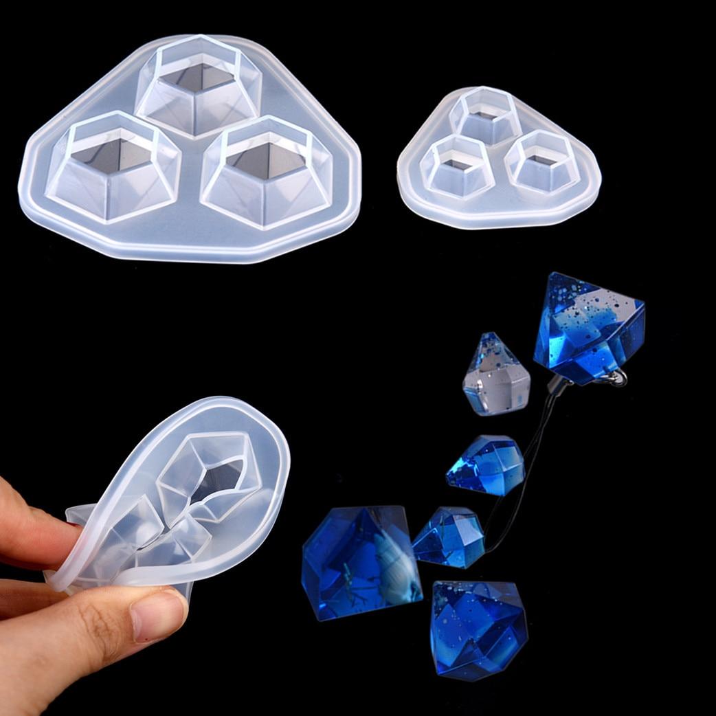 1 Pcs Silikon Form Harz Formen Für Diy Kleine Diamant Anhänger Anhänger Diamant Form Diy Für Schmuck Machen Hoher Standard In QualitäT Und Hygiene