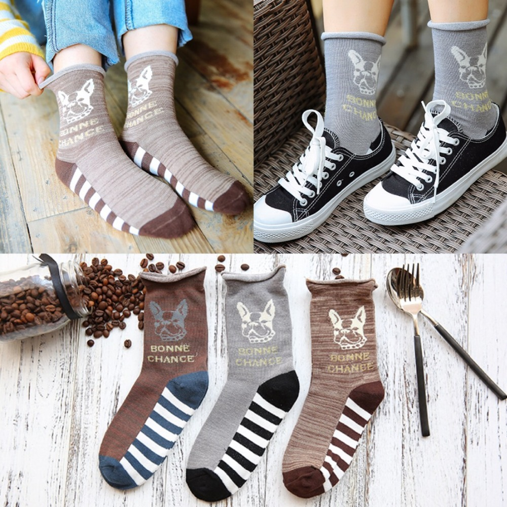 Free Size10pairs/lot Socks Apparel Accessories Women's Clothing Hosiery bull dog Terrier Wholesaler BONNE CHANCE sale by bulk