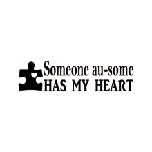 Autism Someone Au-Some Has My Heart Decal Sticker Puzzle Awareness Art Rear Window Car