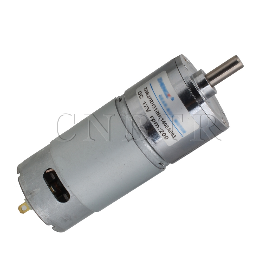 cnbtr 12v dc 200rpm high torque electric motor low noise