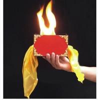 Fire box silk Scarves through fire box Classic close up stage Magic tricks Mentalism 83096