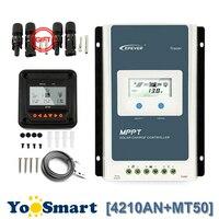 EPEVER 40A Контроллер Заряда MPPT солнечный 100 в PV вход отрицательный Заземленный 12 В/24 В авто с ЖК дисплеем свинцово кислота, литий батарея