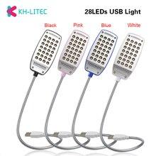 KHLITEC Reading Lamp Night Lights USB Light Flexible Eye Care Bright Luminaria 28LEDS Table Lamp Computer LED Lamp For PC Laptop