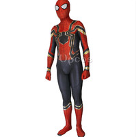 Wholesale 2017 Spiderman Costume Spiderman Homecoming Cosplay Costume Tom Holland Iron Spider Man Suit
