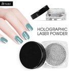 BUKAKI 1pcs Nail Art Holographic Laser Powder Nail Glitter Dust for UV Gel Nail Polish Nail Decoration