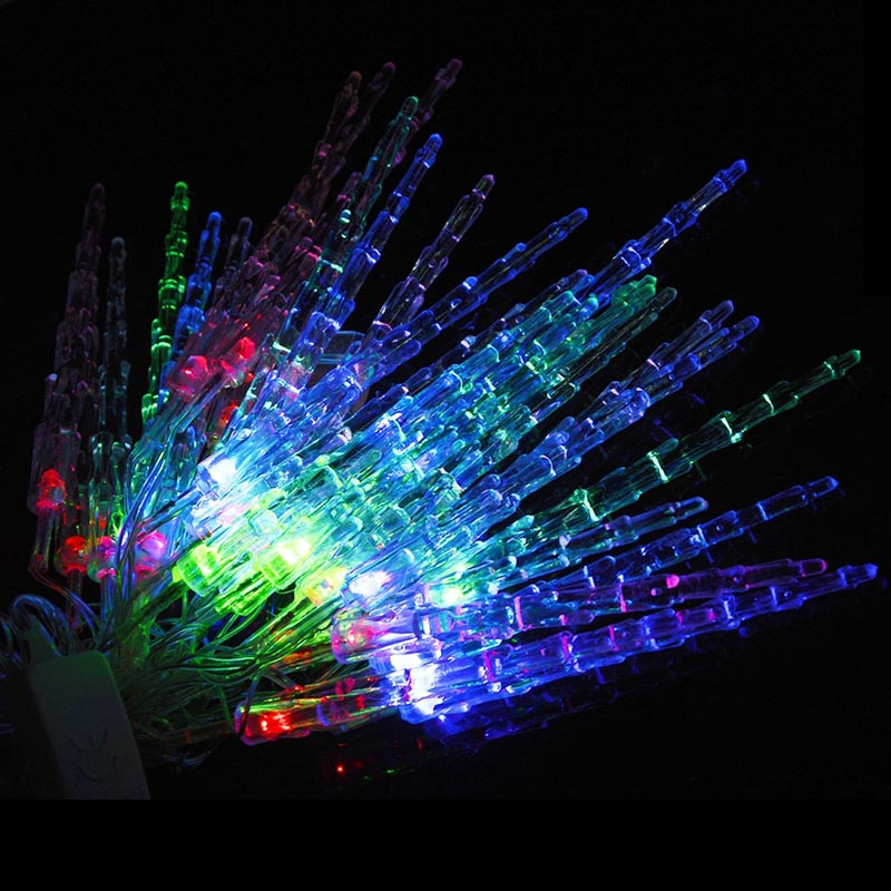 5M 28 LED Waterproof RGB Icicle Pendants String Lights Outdoor Fairy Light For Garden Party Christmas Decoration HUG-Deals