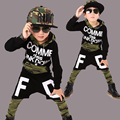 Big Boys Sports Suits Cotton Camouflage Clothing Sets For Boys Tracksuits Letter Hip Pop Outfits Teenage 4 6 8 10 12 13 14 years