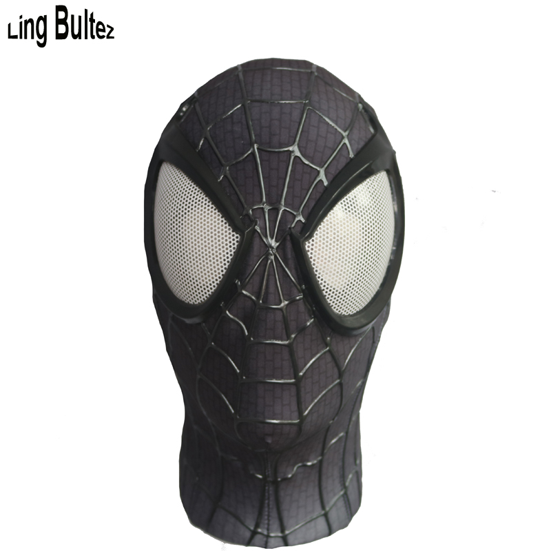 Ling Bultez High Quality Relief Webs Spiderman Mask With Big Eyes 3D Paint Black Spider Man Face Mask