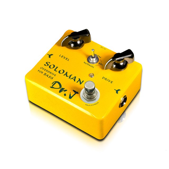 Cheap Dr.J D52 SOLOMAN Bass Overdrive Effect Pedal Instruments player with a concise panel outstanding tone Manual stompbox free ship