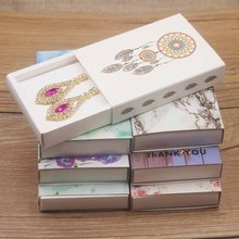 New arrival Kraft gifts display box paper Dreamcatcher/Marbel necklace/earring set display box Diy Thank you candy/wedding box