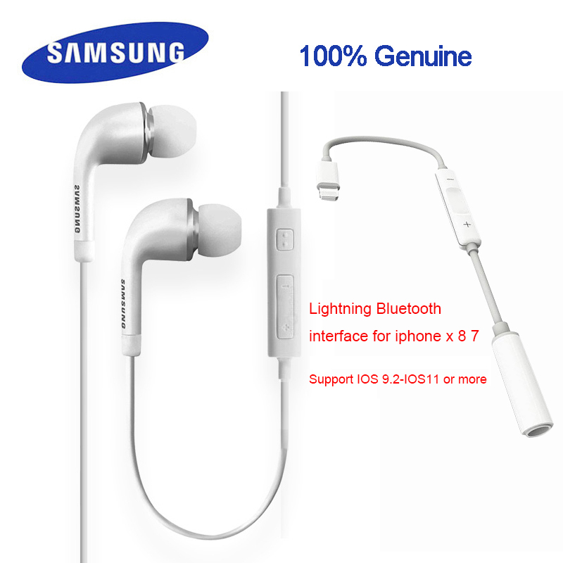 Origianl Samsung earphone ehs64avfwe with lightning bluetooth interface for xiaomi4/5/6 note1/2/3 rednote1/2/3 Galaxy S5/S6/S7 s6 3 5mm in ear earphones headset with mic volume control remote control for samsung galaxy s5 s4 s7 s6 note 5 4 3 xiaomi 2