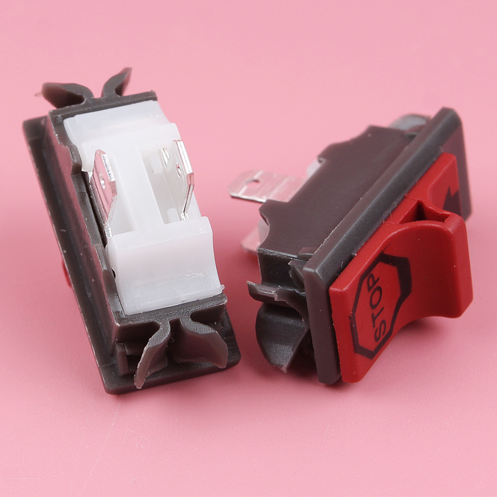 2pcs/lot On Off Stop Switch For Husqvarna 365 371 372 336 385 390 Chain Saw Spare Part 503 71 82 01, 503718201