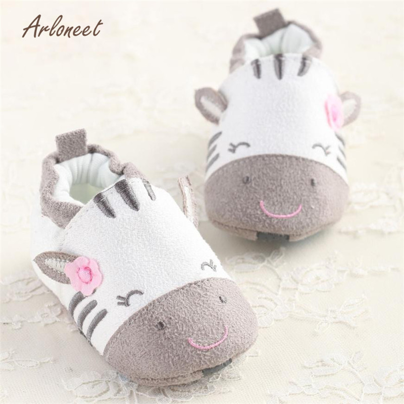 ARLONEET Baby Cartoon Soft Sole Cotton Cloth Shoes Infant Girl Toddler Shoes lightweight durable sole Anti-slip Crib ShoesS3FEB6