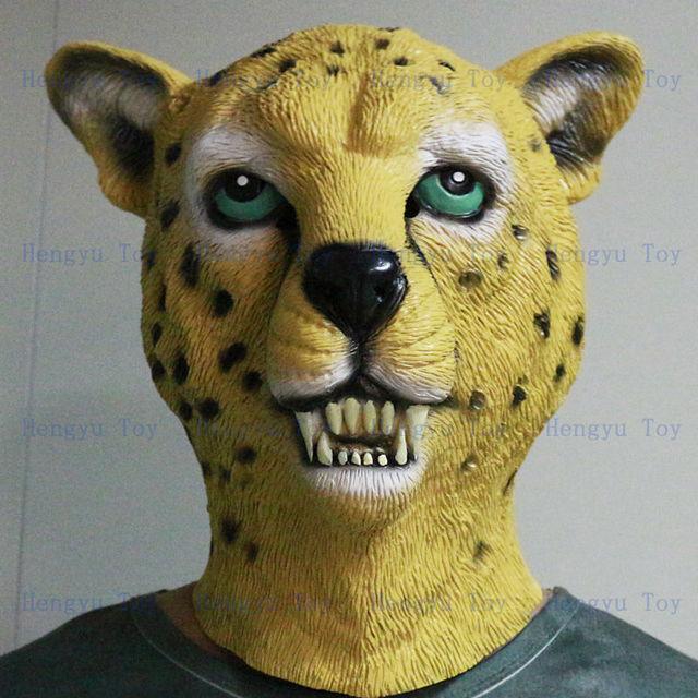 0f218875e5bd Promotional Realistic Fancy Costume Latex Leopard Mask Halloween Prop