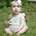 Горячие продажи летняя мода младенец Девочка Комбинезон Новорожденный Одежда 13 Цвет бант Слинг кружева рябить ребенка девочка комбинезон