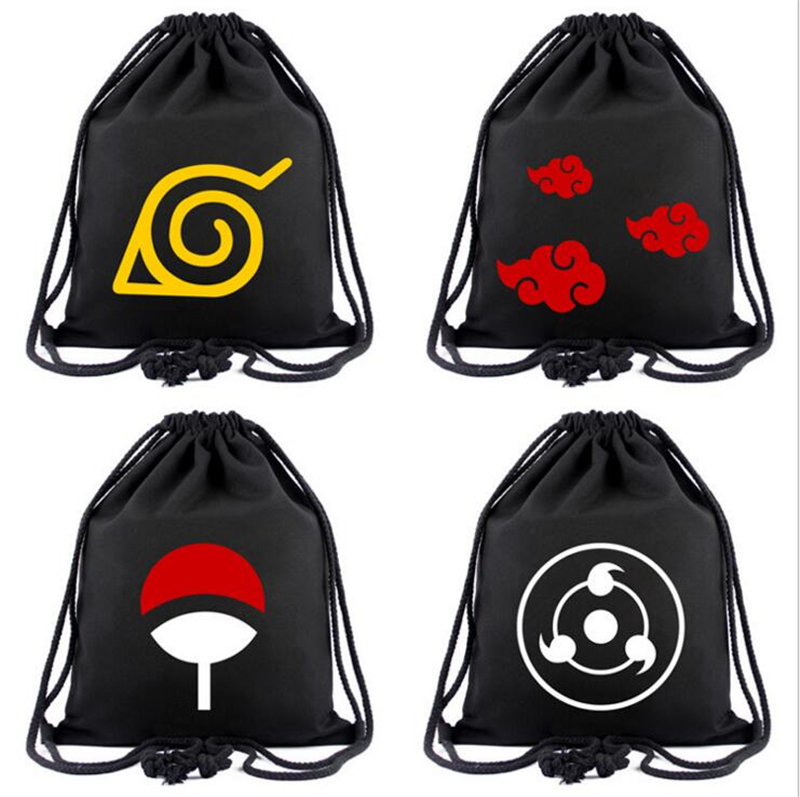 Anime Bag NARUTO Drawstring Bag Tokyo Ghoul Backpack One Piece Attack On Titan CARTOON Travel Bags Mochila Shoulders Bag