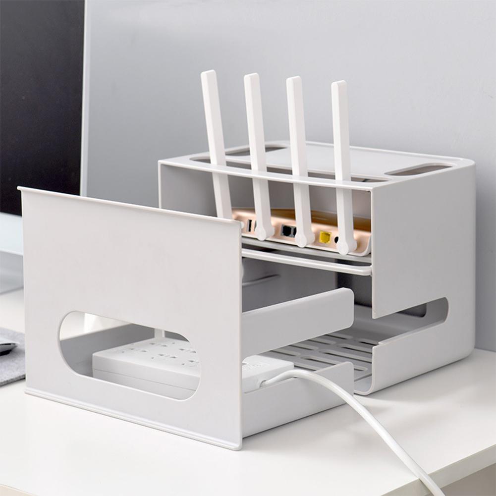 Boîte de stockage de routeur de Wifi de Type de tiroir de Double couche pour le câble de conseil de fil organisent - 3