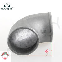 SILVER 50mm 2 Pipe Joiner Cast Aluminum 90 Degree Elbow Pipe Turbo Intercooler pipe 50mm 2''inch