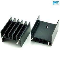 100 Шт. Черный 25x23x16B Чистый Алюминий Охлаждения Fin Радиатора Теплоотвод