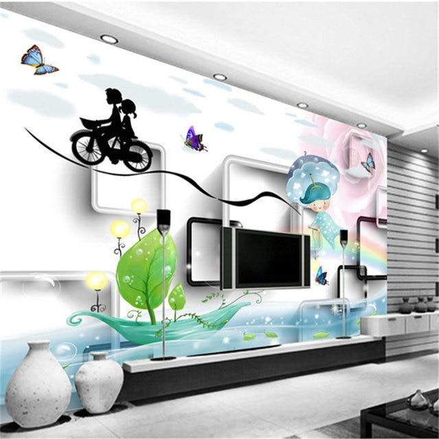 populaire verse koop leuke cartoon achtergronden behang slaapkamer kinderen opgehangen schilderijen muurschilderingen 3d muurschildering behang
