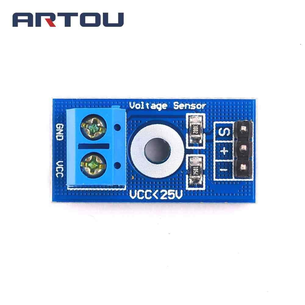 Electrónica Inteligente DC 0-25V estándar Módulo sensor voltaje de prueba electrónica ladrillos de Robot inteligente para arduino Diy Kit