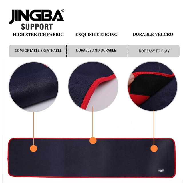 JINGBA SUPPORT Sport wais belt support fitness waist trimmer sweat belt Neoprene Lumbar Band Protective Dropshipping 4