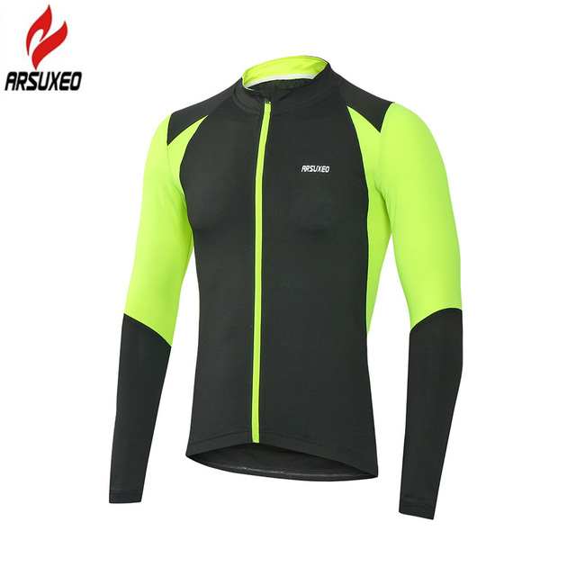 a1b53d7185c7b ARSUXEO Men s Cycling Jersey Long Sleeve MTB Jersey with Full Zipper  Downhill Road Mountain Bike Clothing Maillot Ciclismo