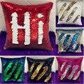 US Magic Reversible Mermaid Sequin Cushion Cover Glitter Throw Pillow Case Home Decor