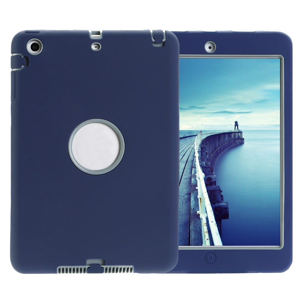 Shockproof Heavy Duty Case for iPad mini 1/2/3 7.9 inch,Drop resistance 360 degree full protection for iPad mini model A1489