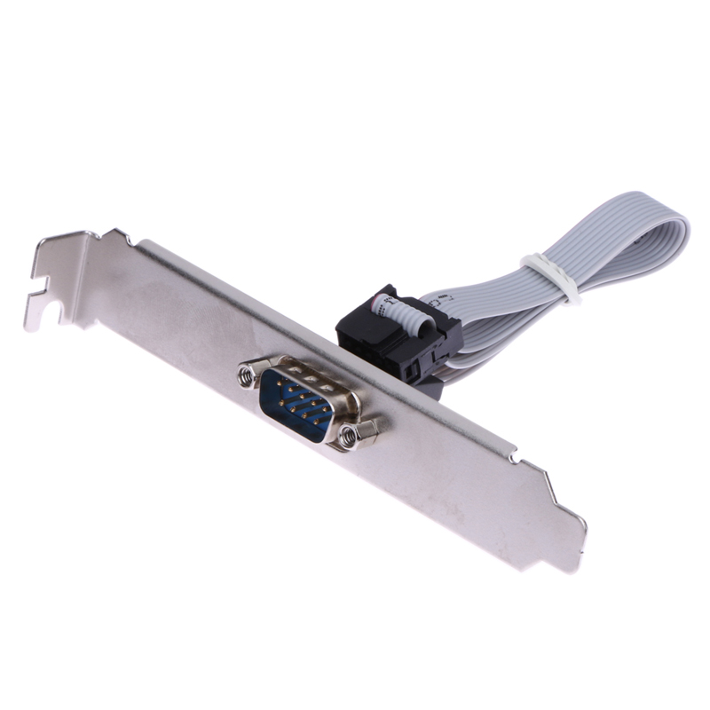 For Motherboard 9 Pin Female To RS232 DB9 Pin Com Port Ribbon Serial Cable Connector Bracket With Cable For Computer PC Desktop