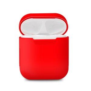 Image 3 - 애플 airpods에 대 한 부드러운 실리콘 스킨 케이스 충전 케이스 airpod 보호 커버 슬리브 파우치 shockproof coque fundas 도매
