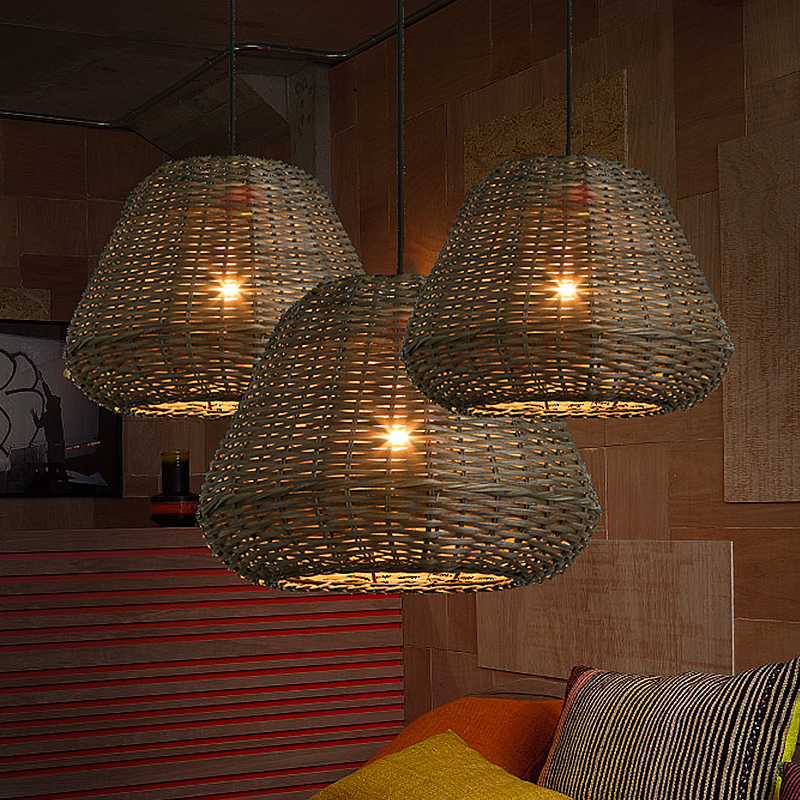 Chinese restaurant teahouse teahouse handmade bamboo rattan village tea shop southeast retro rattan Pendant Lights LO7262 chinese pendant lights southeast asia simple modern living room restaurant new classical bamboo lamp hotel teahouse lu823401
