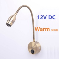 Warm White 3w 12V LED Bronze Reading Lights Beside Map Book Wall Lighting RV Caravan Motorhome