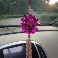 DIY Handwork Car Pendant Crystals Car Hung Amulet Hanging Ornament Crystal Lucky Gift