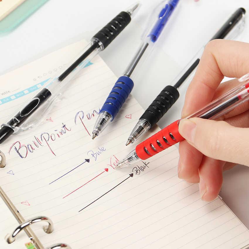 Przezroczysty pióro kulkowe 0.7mm długopis pióra do pisania podpis piśmiennicze narzędzia biurowe artykuły szkolne