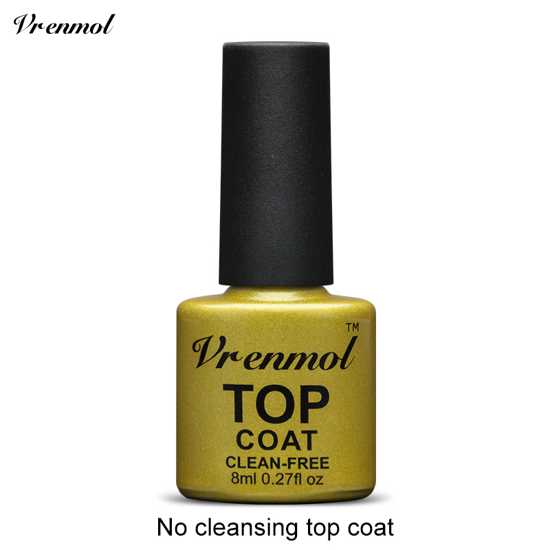 Vrenmol, 1 шт., меняющий цвет, замачиваемый УФ-гель, цвета, лак Verniz, Термальный, меняющий настроение, Гель-лак для ногтей - Цвет: Top coat